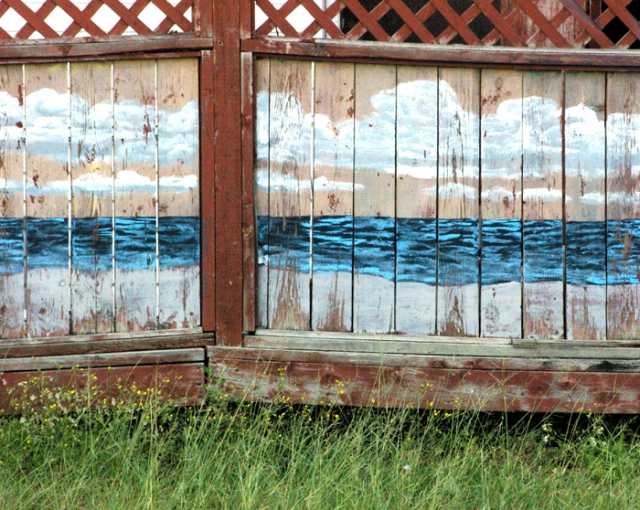 Painted fence in Port Stanley