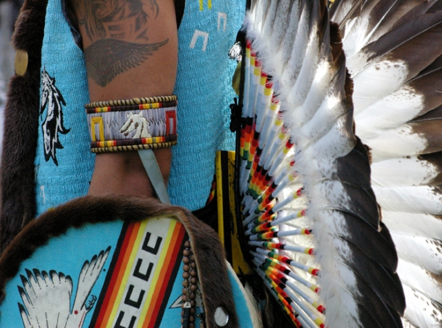 Mens beaded Pow Wow outfit