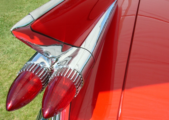 Red Fins on a 59 Cadillac