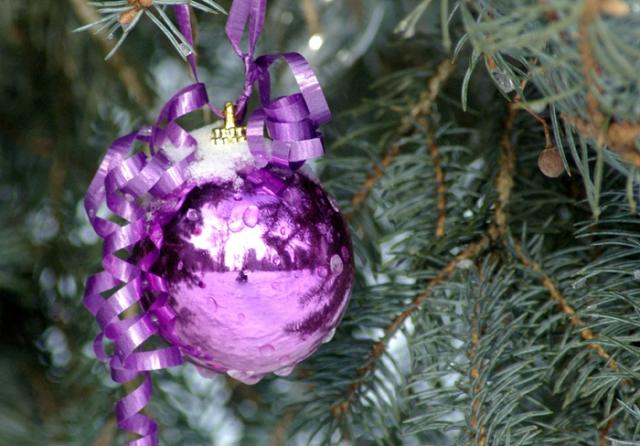 Purple Chritsmas ornament