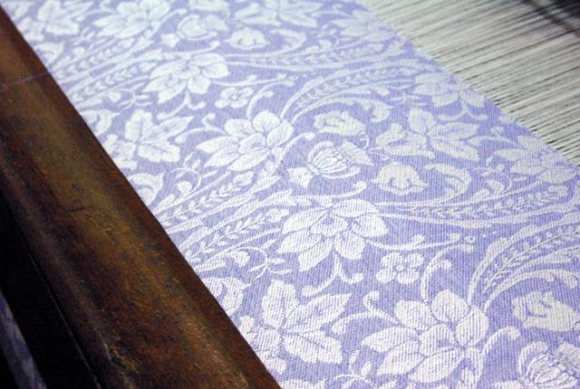 Purple & White woven cloth