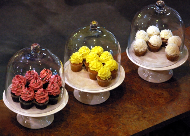 Three types of cupcakes