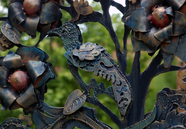 ornate metal gate detail