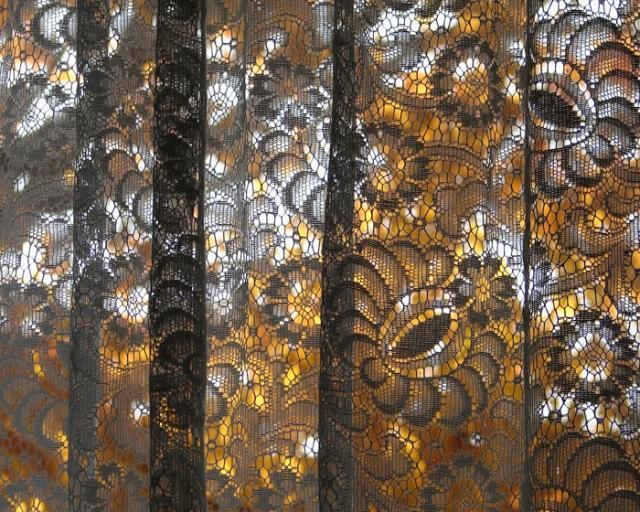 Fall Lace Curtain