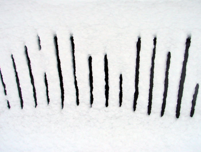 Slats in the Snow