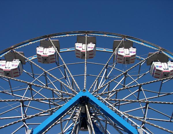 Blue Sky Ferris Wheel
