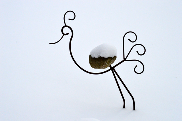 Curly Q Snow Bird