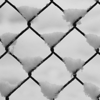 Fence Snow Pattern